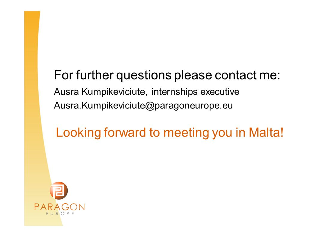 For further questions please contact me: