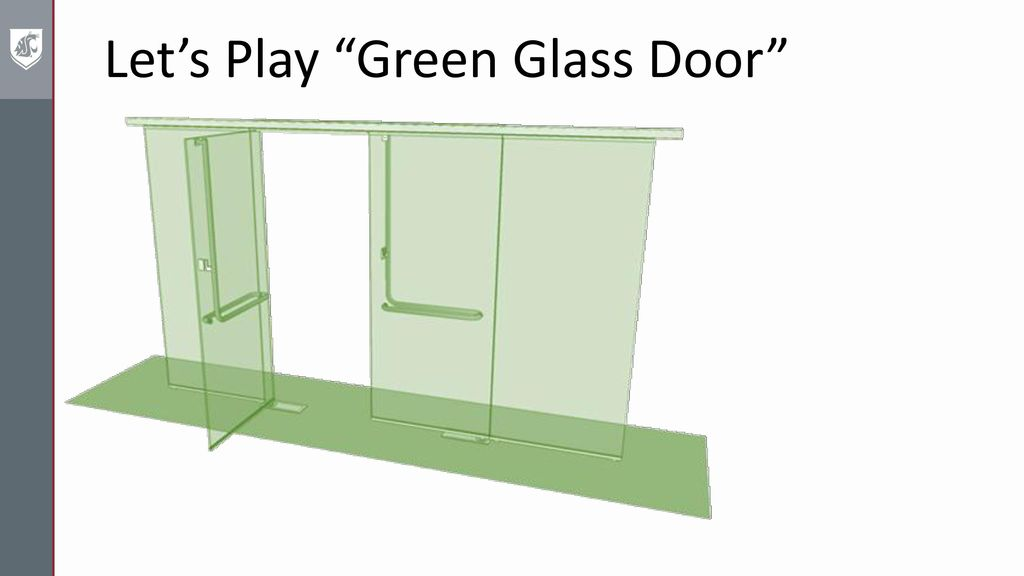 Letu0027s Play Green Glass Door