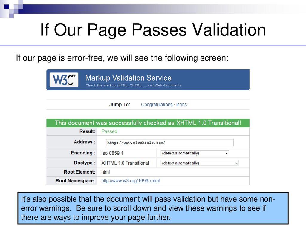 Validation  - ppt download