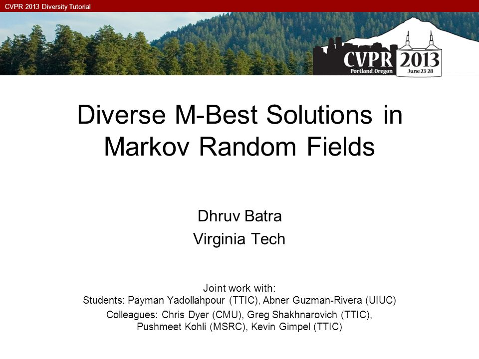 Diverse M-Best Solutions in Markov Random Fields