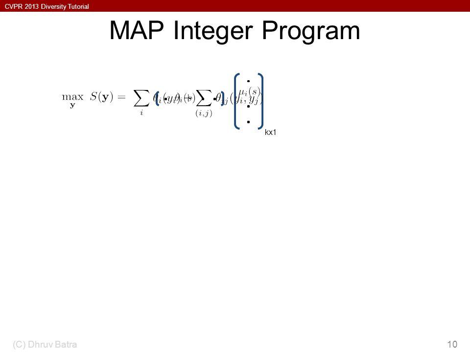 MAP Integer Program (C) Dhruv Batra kx1