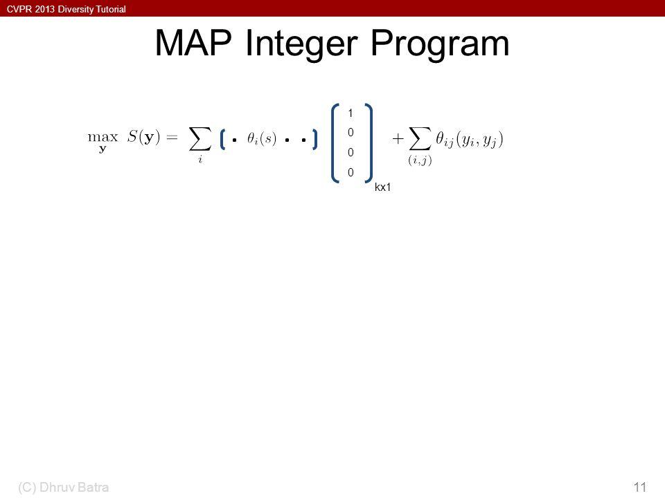 MAP Integer Program 1 kx1 So this is xi = 1. (C) Dhruv Batra