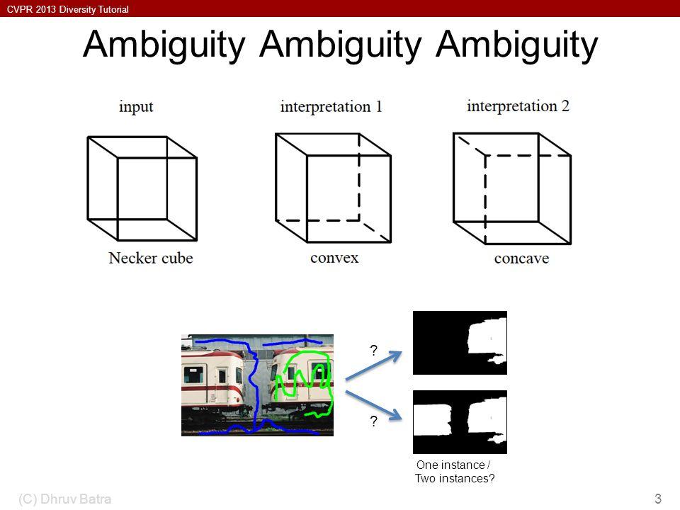 Ambiguity Ambiguity Ambiguity