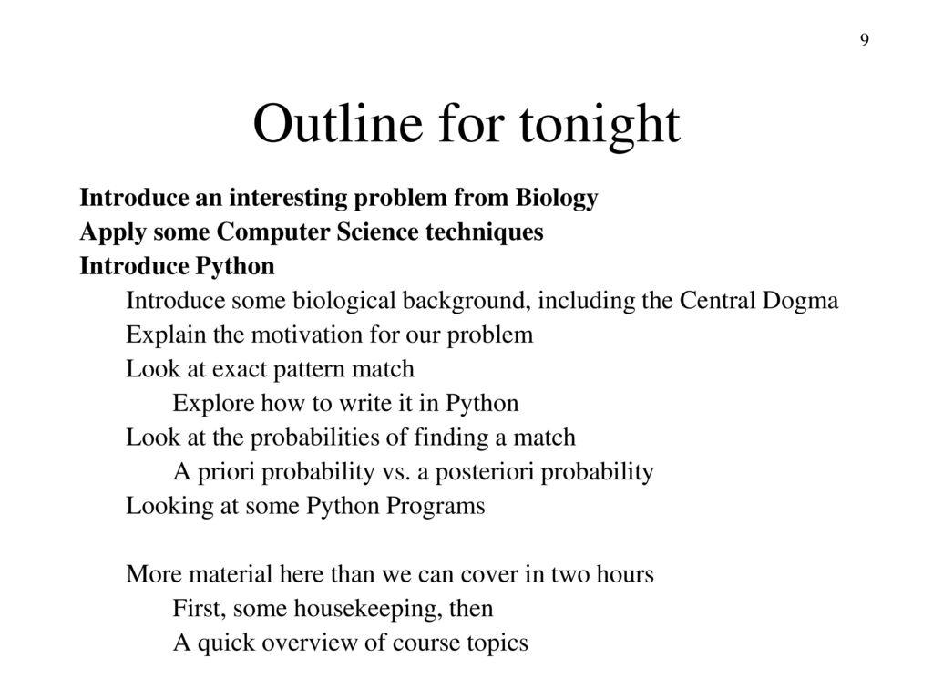 Bioinformatics Algorithms Lecture 1 © Jeff Parker, ppt download