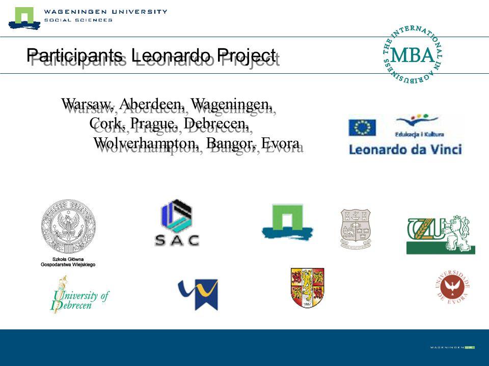 Participants Leonardo Project