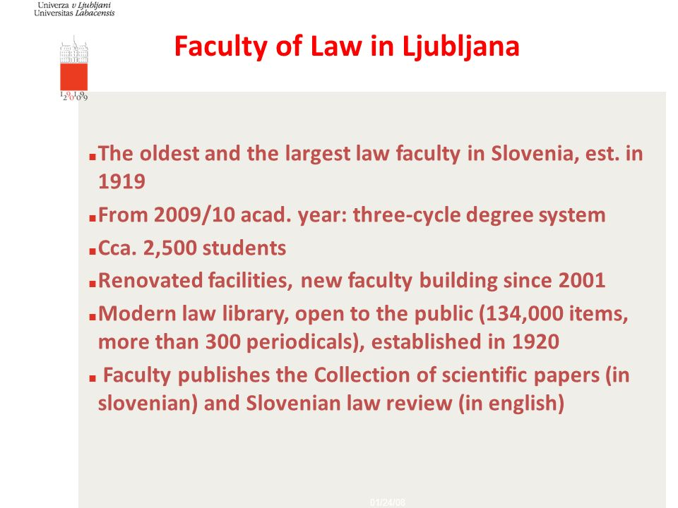 Faculty of Law in Ljubljana