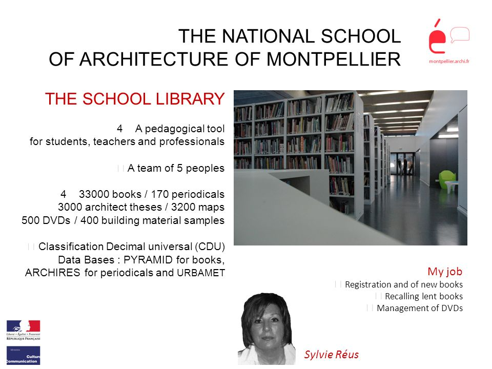 THE NATIONAL SCHOOL OF ARCHITECTURE OF MONTPELLIER