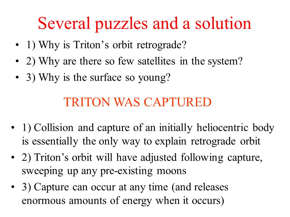 Several puzzles and a solution