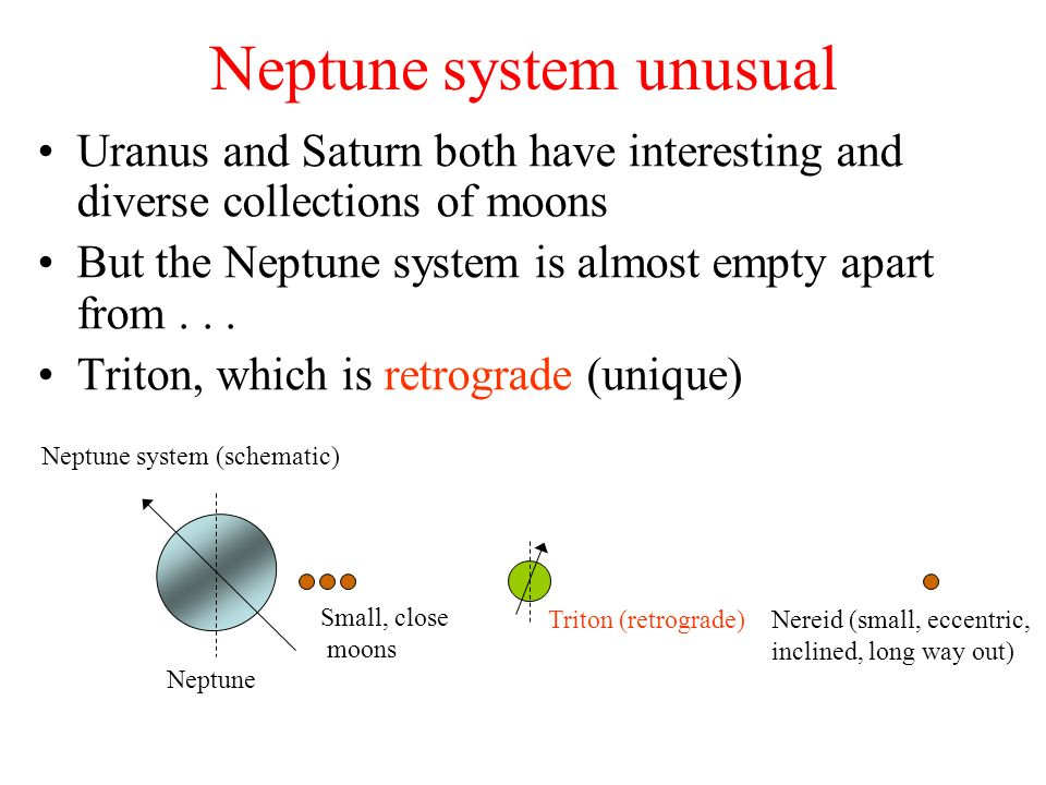 Neptune system unusual
