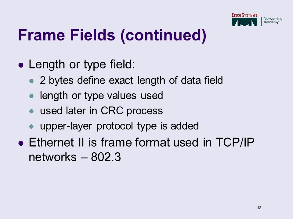 Frame Fields (continued)