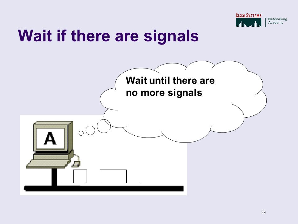 Wait if there are signals