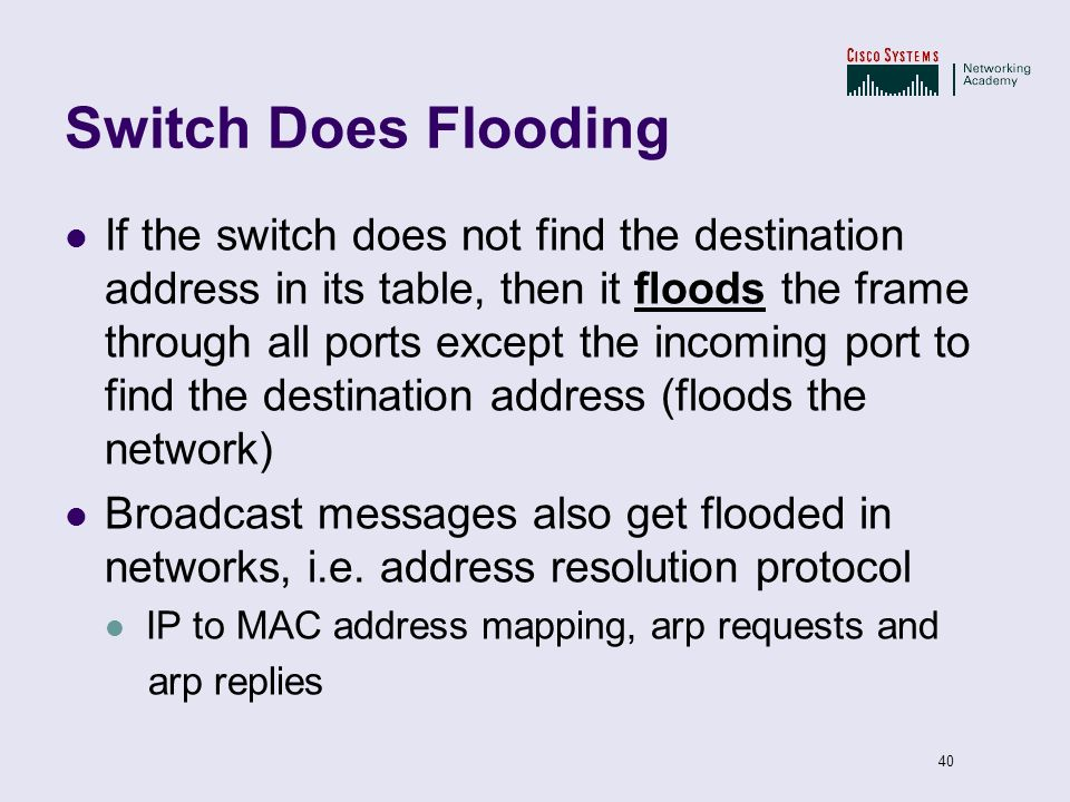 Switch Does Flooding