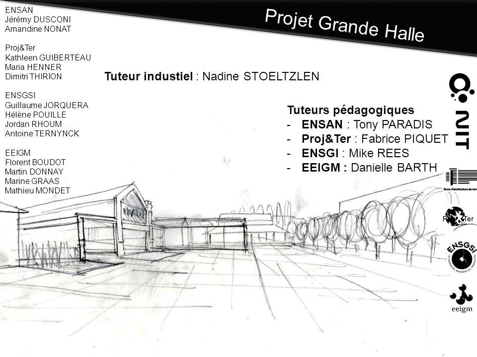 Projet Grande Halle Tuteur industiel : Nadine STOELTZLEN