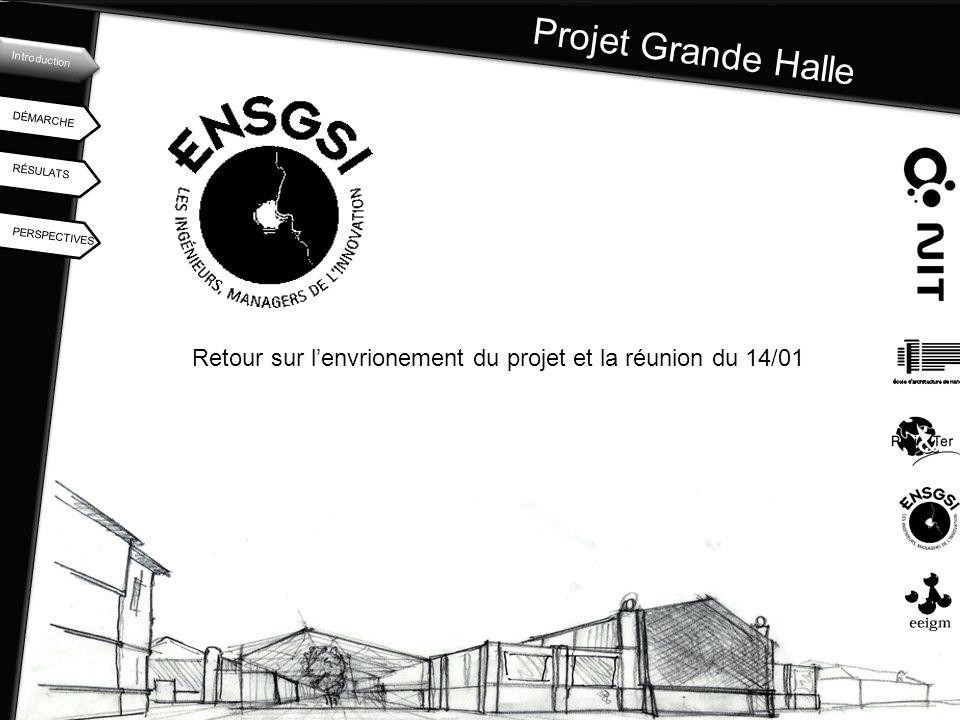 Projet Grande Halle Introduction. DÉMARCHE. RÉSULATS.