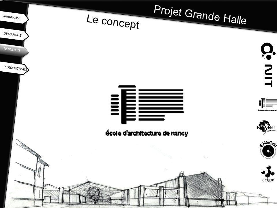 Projet Grande Halle Le concept Introduction DÉMARCHE RÉSULATS