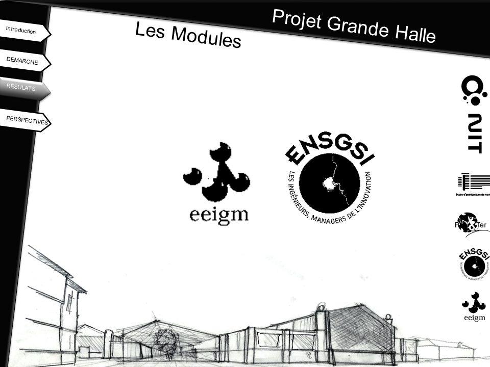 Projet Grande Halle Les Modules Introduction DÉMARCHE RÉSULATS