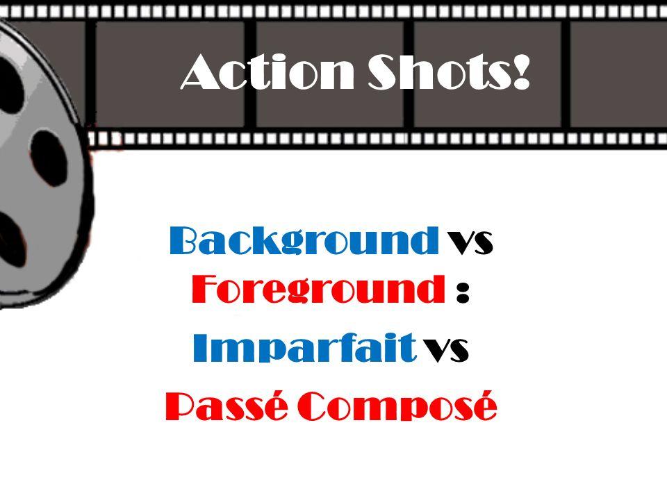 Background vs Foreground : Imparfait vs Passé Composé