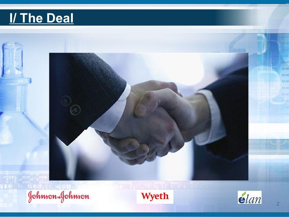 I/ The Deal Rachat programme JULY 2, 2009 www.jnj.com