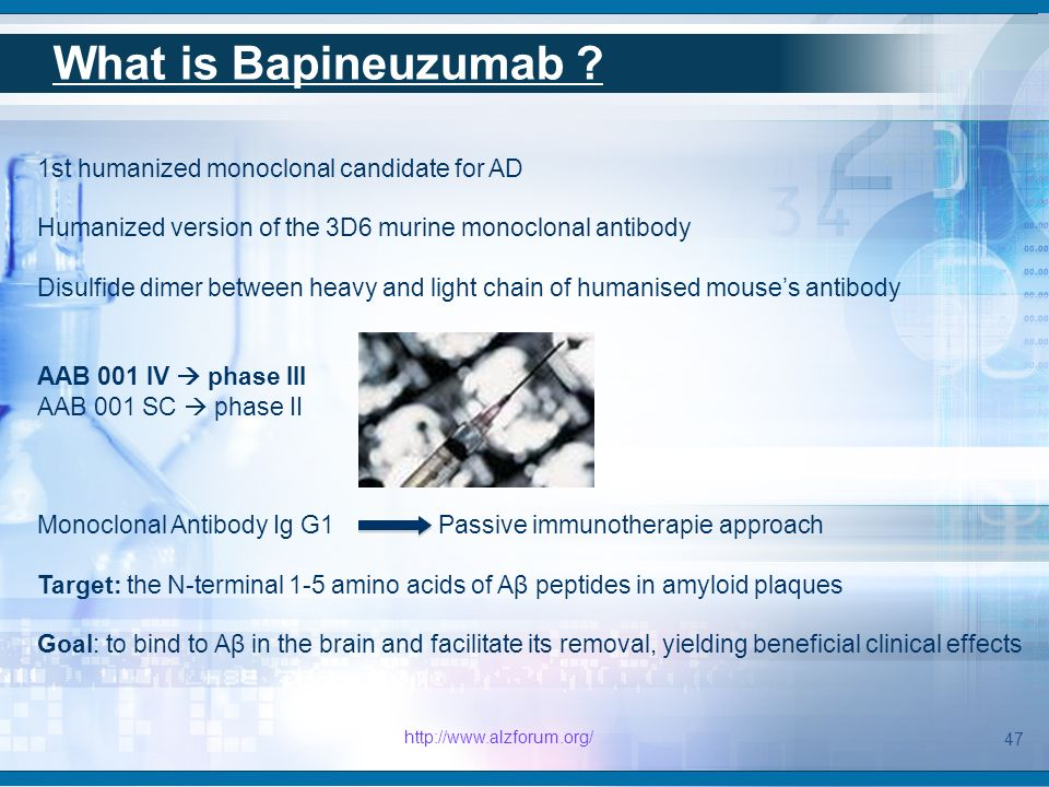 Hypothesis on bapineuzumab's activity