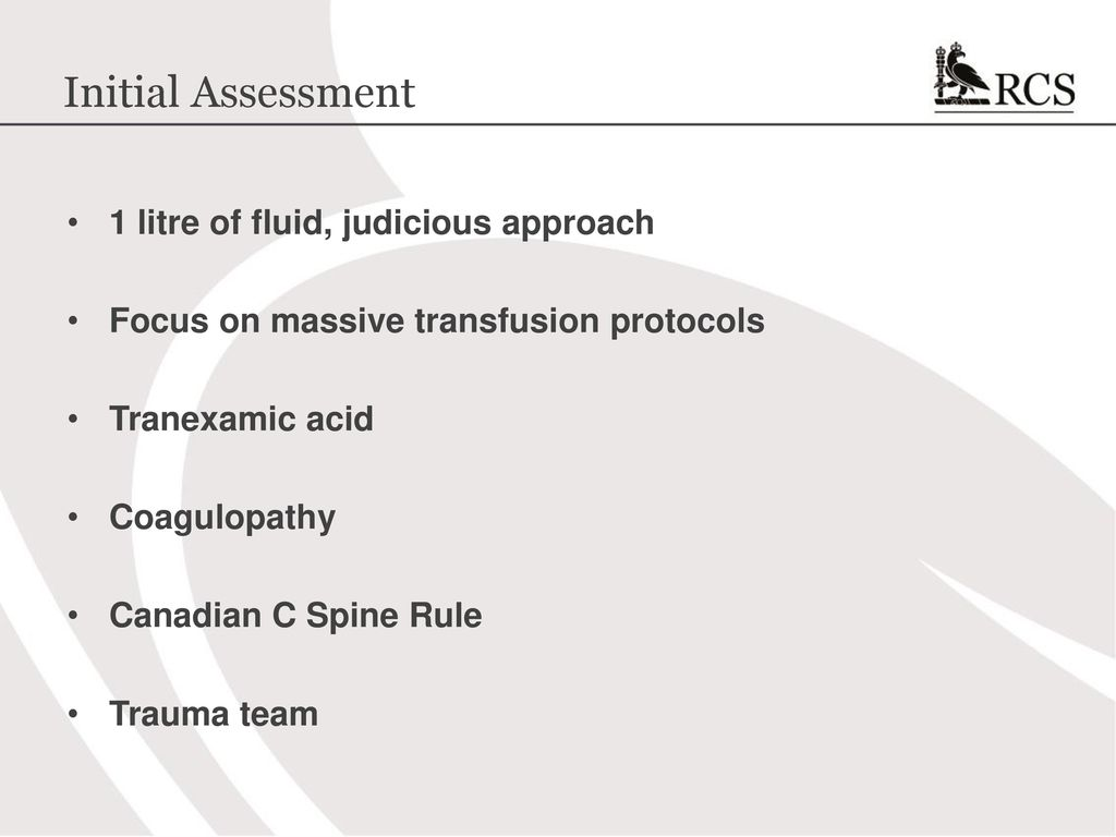 Atls 10th edition update the new course ppt download initial assessment 1 litre of fluid judicious approach fandeluxe Choice Image