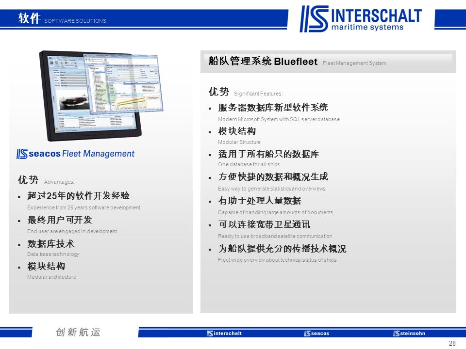 软件 SOFTWARE SOLUTIONS 船队管理系统 Bluefleet Fleet Management System