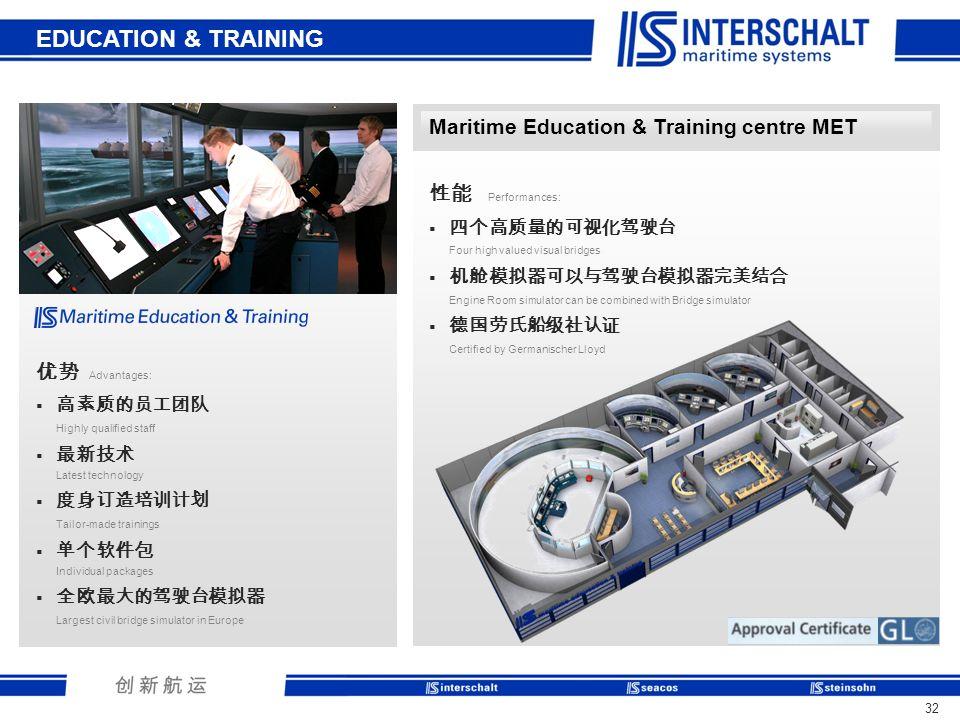 EDUCATION & TRAINING Maritime Education & Training centre MET