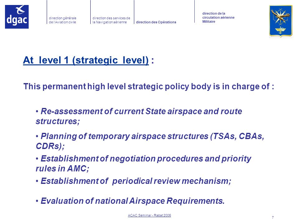 This permanent high level strategic policy body is in charge of :