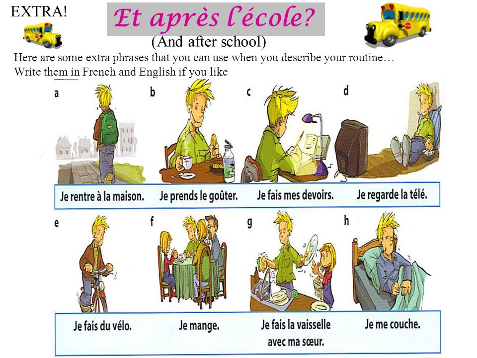 Et après l'école EXTRA! (And after school)