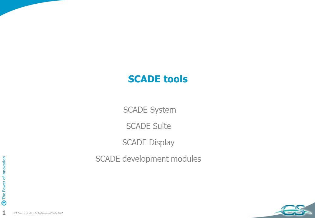 SCADE System SCADE Suite SCADE Display SCADE development modules