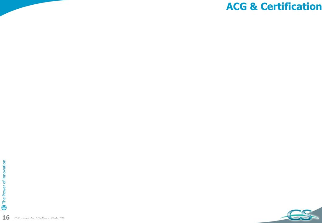 ACG & Certification
