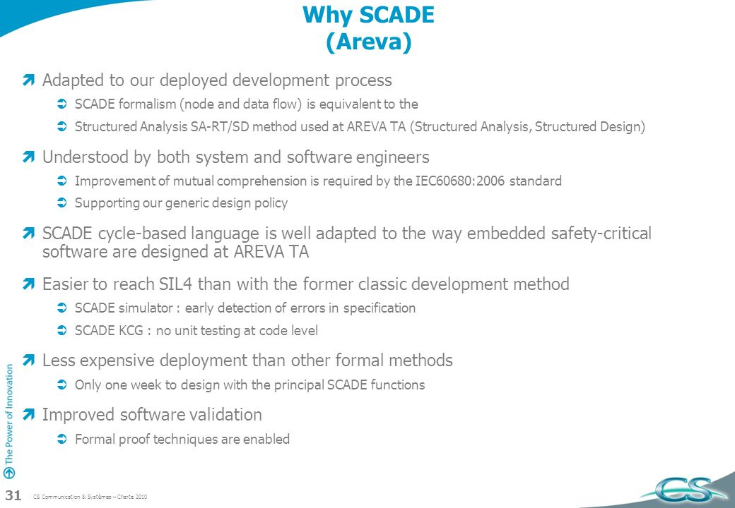Why SCADE (Areva) Adapted to our deployed development process