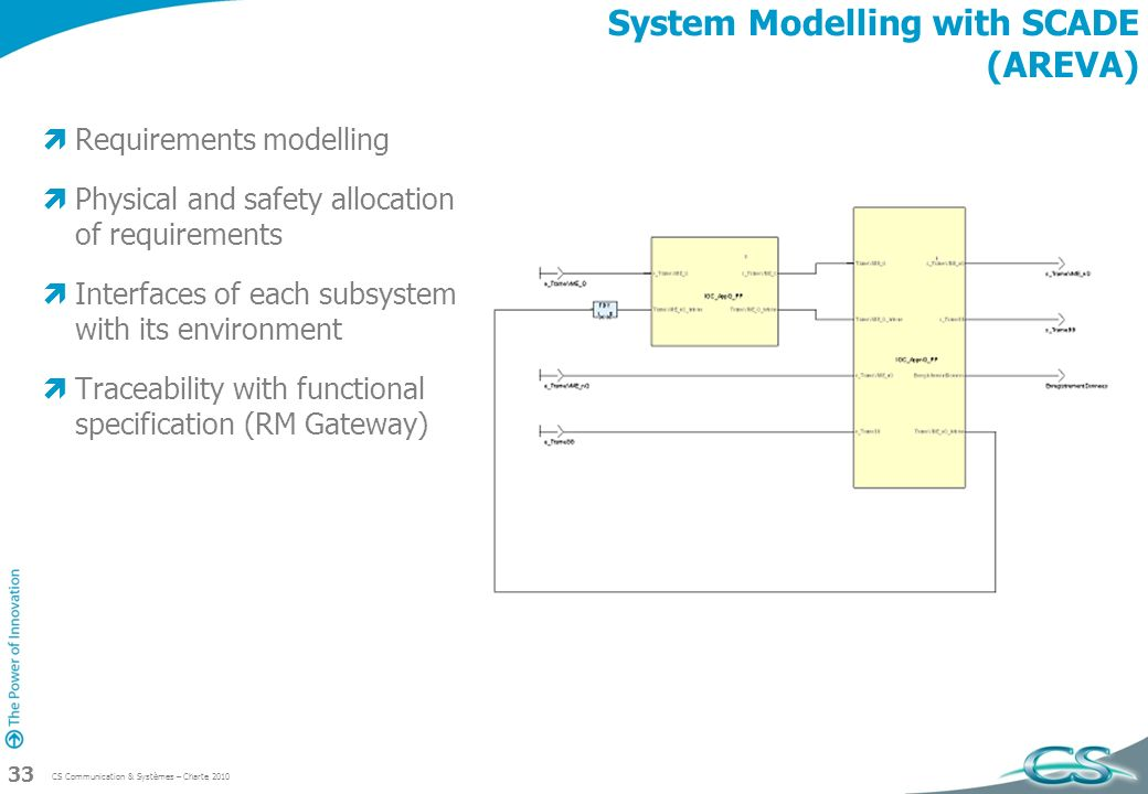 System Modelling with SCADE (AREVA)