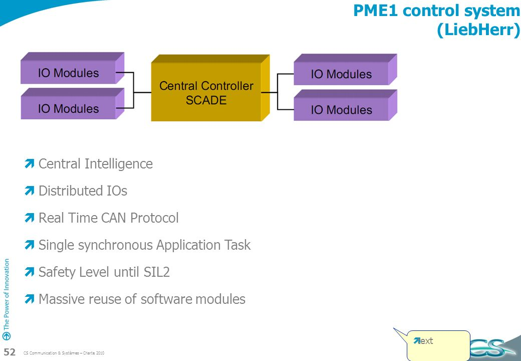 PME1 control system (LiebHerr)