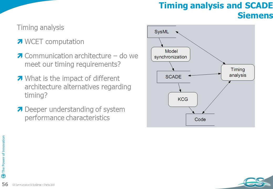 Timing analysis and SCADE Siemens