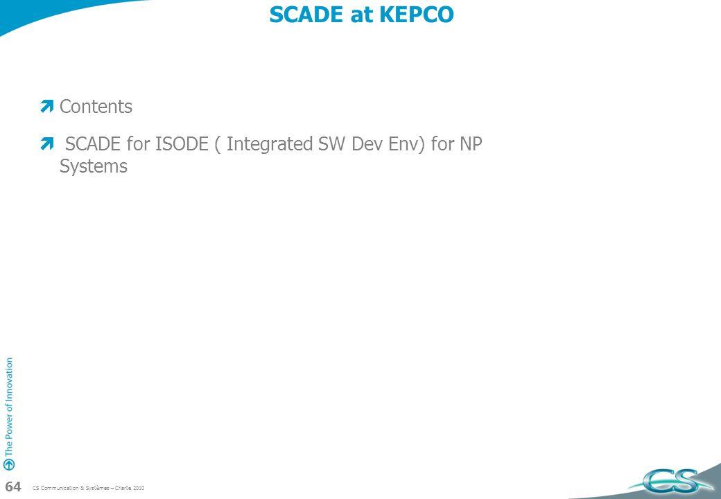 SCADE at KEPCO Contents