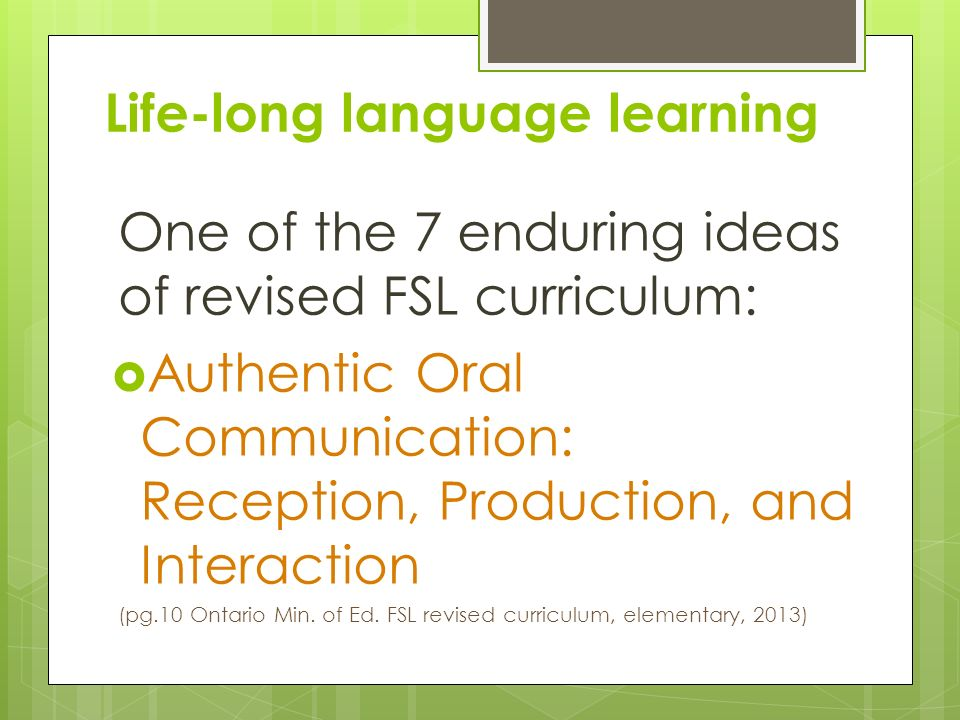 Life-long language learning