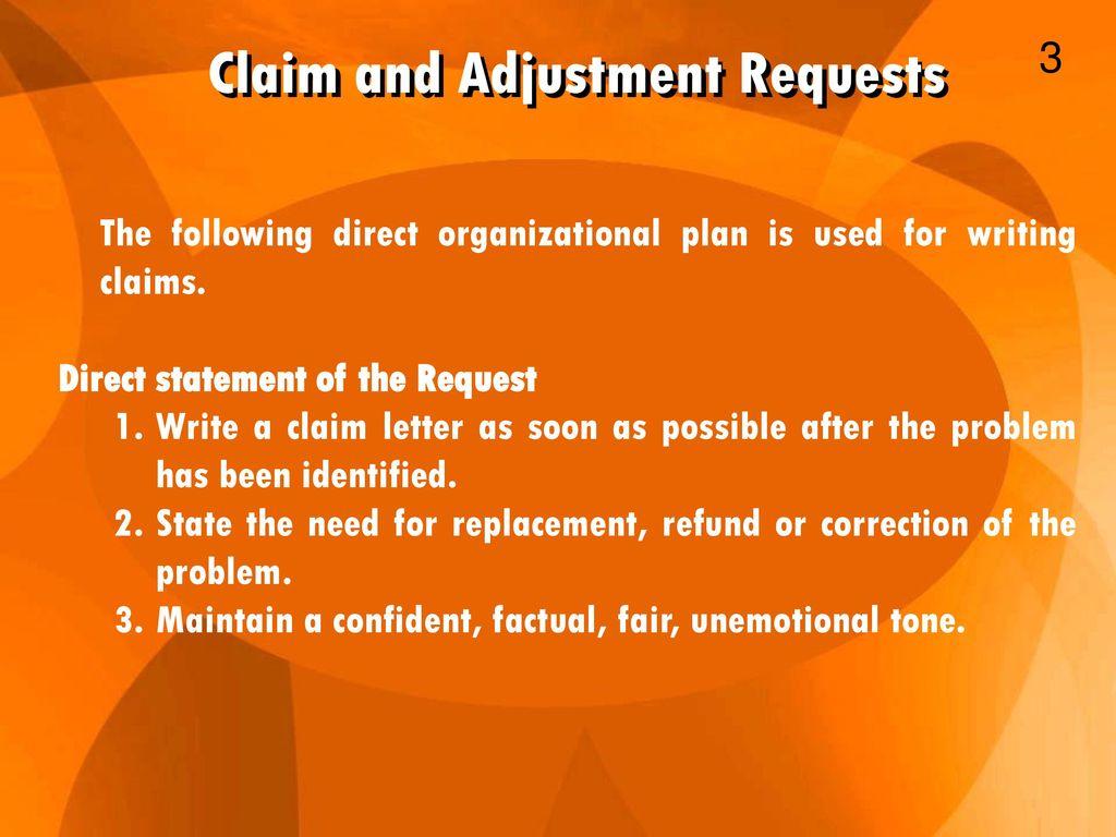 Business communication ppt download claim and adjustment requests altavistaventures Images