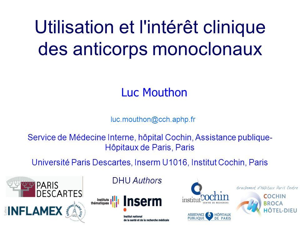 Utilisation et l intérêt clinique des anticorps monoclonaux