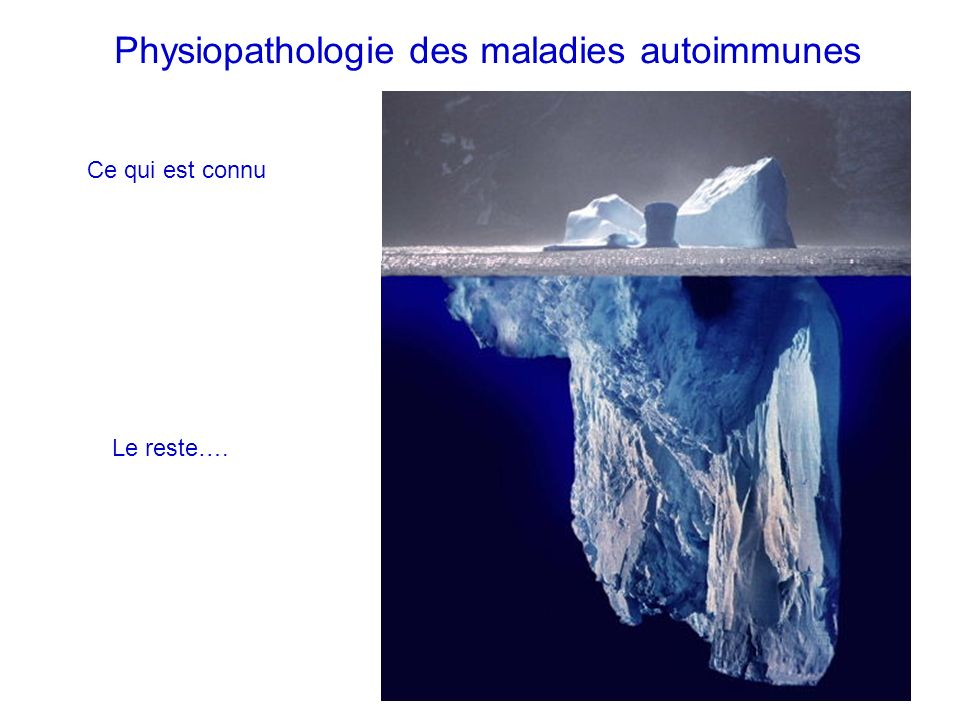 Physiopathologie des maladies autoimmunes