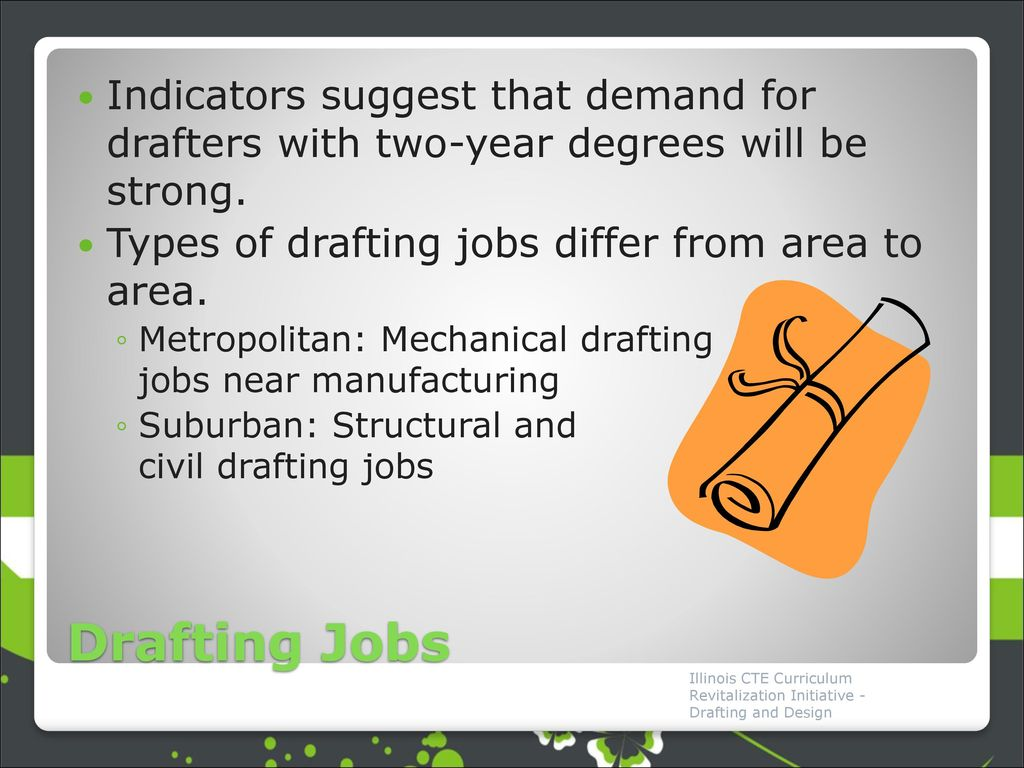 Indicators Suggest That Demand For Drafters With Two Year Degrees Will Be  Strong.