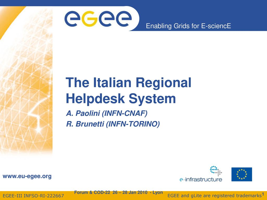 The Italian Regional Helpdesk System