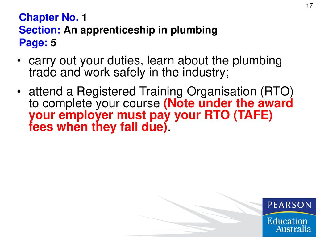 Bcpcm2001a work effectively in the plumbing and service sector ppt 1 section an apprenticeship in plumbing page 5 dailygadgetfo Gallery