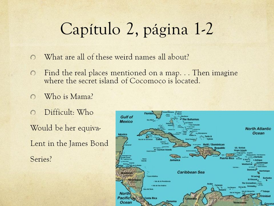 Capítulo 2, página 1-2 What are all of these weird names all about