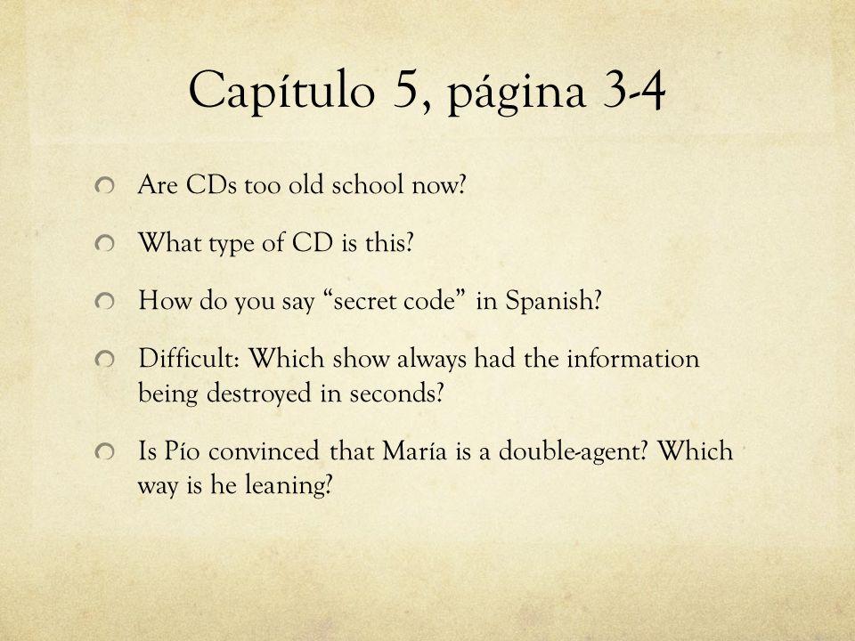 Capítulo 5, página 3-4 Are CDs too old school now