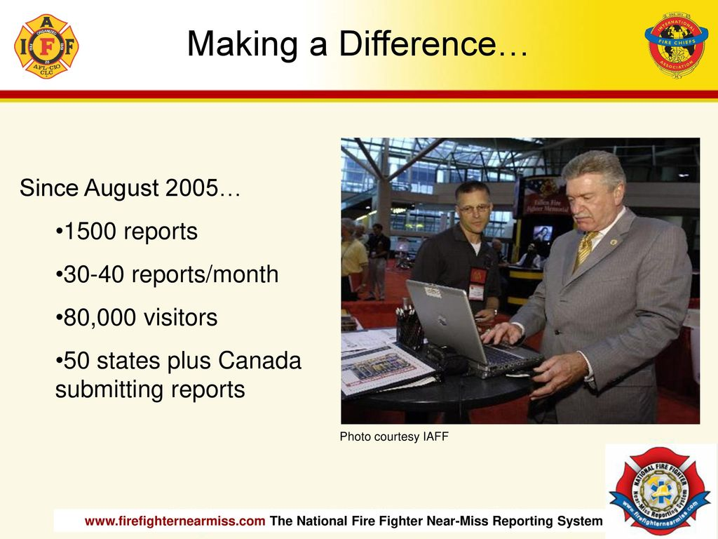 The National Fire Fighter Near-Miss Reporting System - ppt
