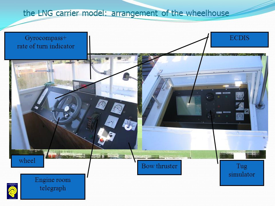 the LNG carrier model: arrangement of the wheelhouse
