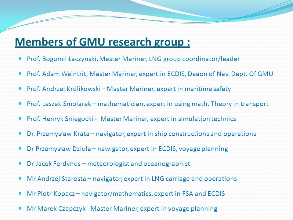 Members of GMU research group :