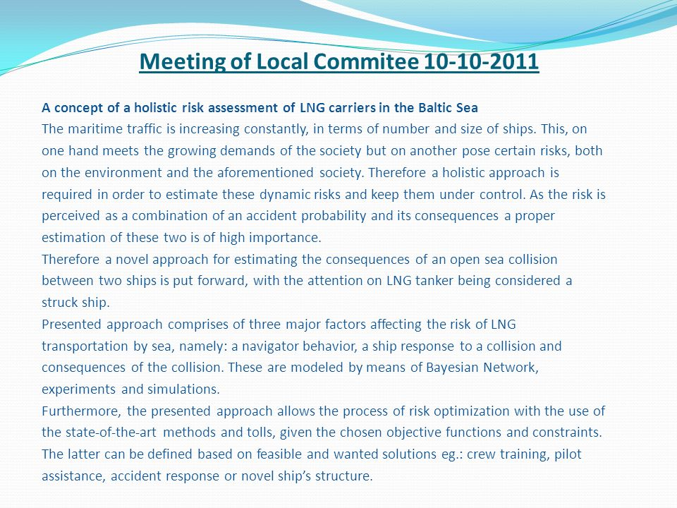 Meeting of Local Commitee 10-10-2011