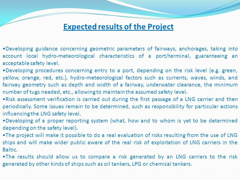 Expected results of the Project