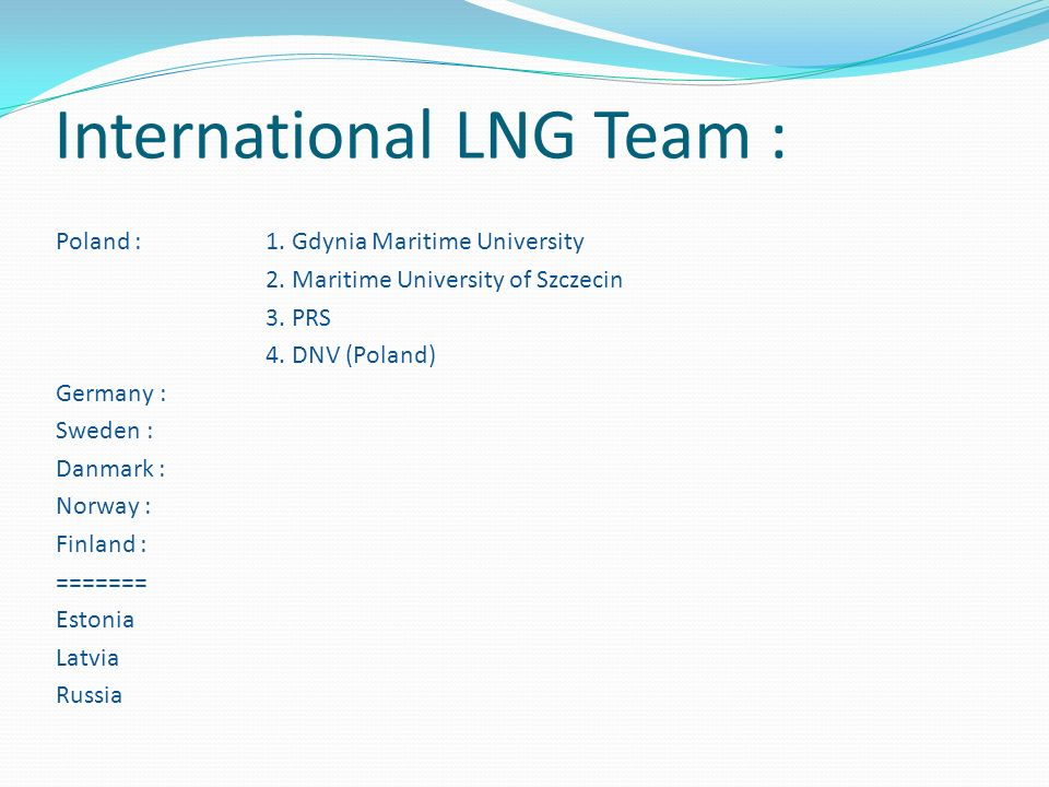 International LNG Team :